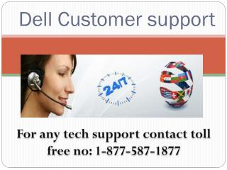 Dell technical support number 1877 587 1877
