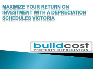 Depreciation Schedules Victoria