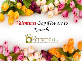 Valentines Day Flowers to Karachi---KarachiGifts.com