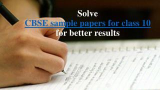 Get latest CBSE sample papers for class 10