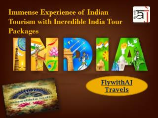 Immense Experience of Indian Tourism with Incredible India Tour Packages