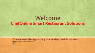 Create mobile apps for your restaurant business