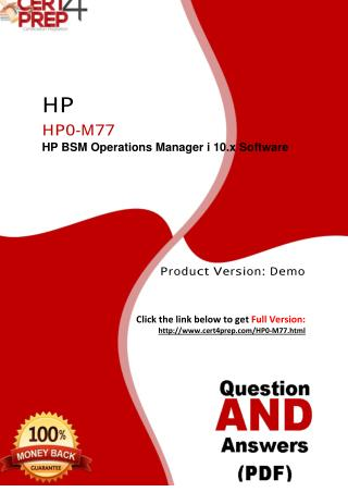 Hewlett Packard HP0-M77 Exam PDF Material