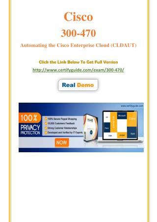 300-470 Cisco Certification Score Training