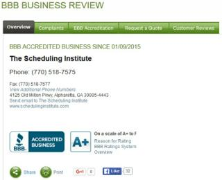 The Scheduling Institute Reviews