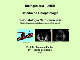 Bioingenier a - UNER  C tedra de Fisiopatolog a  Fisiopatolog a Cardiovascular diapositivas proyectadas en clases, 3da p