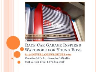 Race Car Garage Inspired Wardrobe for Young Boys in Canada