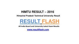 Himtu Result | Result Flash - Resultflash.com