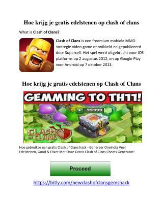 Hoe krijg je gratis edelstenen op clash of clans