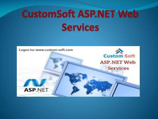 CustomSoft ASP.NET Web Services