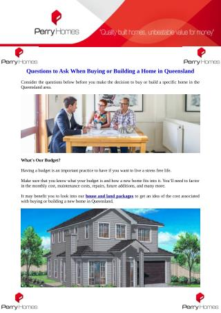 Questions to Ask When Buying or Building a Home in Queensland