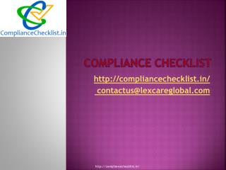 legal compliance checklist
