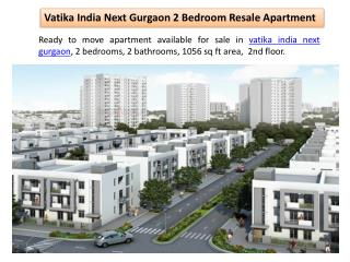 Vatika India Next Gurgaon 2 Bedroom Resale Apartment