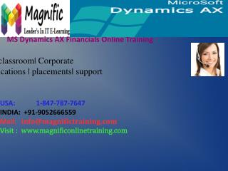 Microsoft Dynamics Ax Financial Online Training in USA