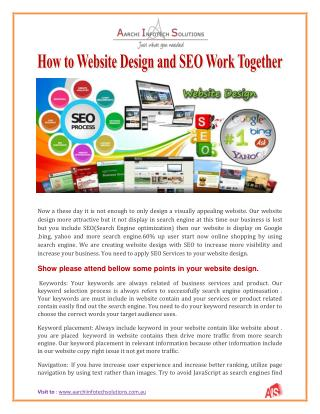 How to website design and seo work together