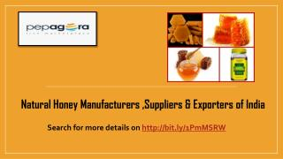 Natural Honey Suppliers, Manufacturers, Wholesalers and Exporters in India