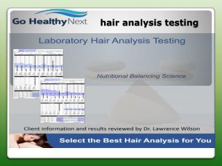 hair analysis testing