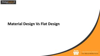 Material Design Vs Flat Design