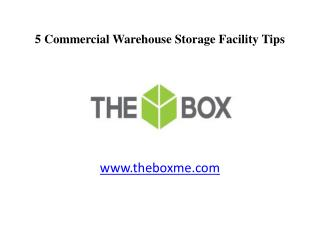 5 Dubai Commercial Warehouse Storage Facility Tips