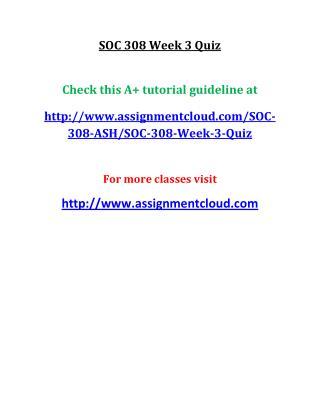 UOP SOC 308 Week 3 Quiz