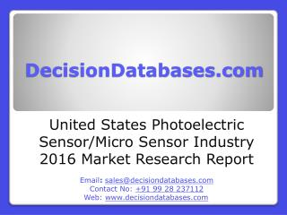 Photoelectric Sensor-Micro Sensor Market United States Analysis and Forecasts 2020