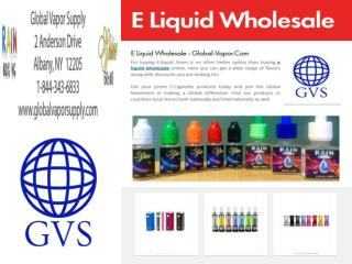 E Liquid Wholesale - Wholesale Supplier