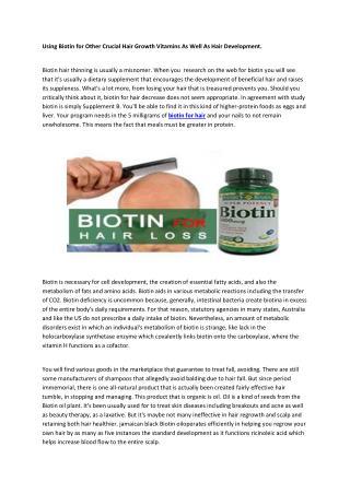 Biotin for hair