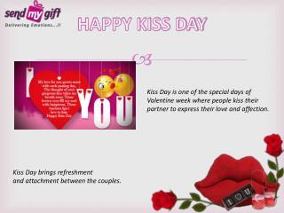 Valentines kiss day celebration
