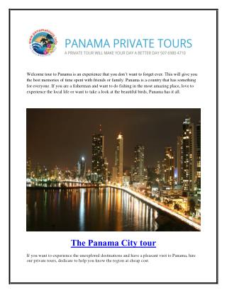 Panama City Tours