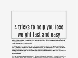 4 tricks to help you lose weight fast and easy