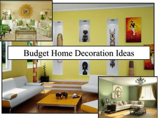 Budget Home Decoration Ideas