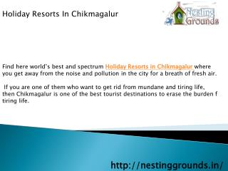 Holiday Resorts In Chikmagalur