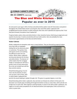 The Blue and White Kitchen – Still Popular as ever in 2015