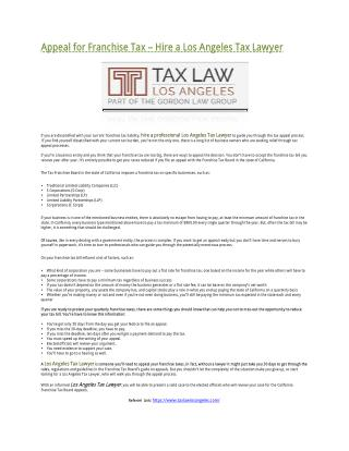 Los Angeles Tax Lawyer Reveals Tricks Of The Trade. Call 818-584-2175