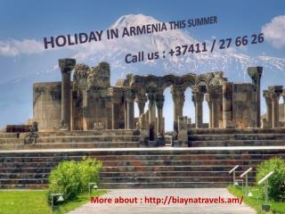 Call : - 37411 / 27 66 26  Armenia travel agent