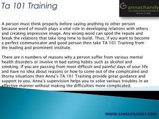 Ta 101 Training