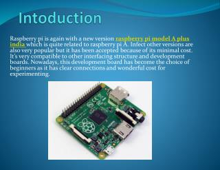 Raspberry Pi Model a Plus ( ) Board India Pdf File – Robomart