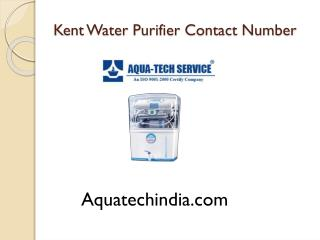 Kent Water Purifier Contact Number