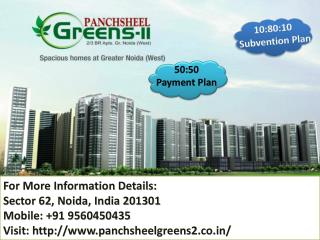 Panchsheel Greens 2 offers Book home only pay 50% Call @ 919560450435