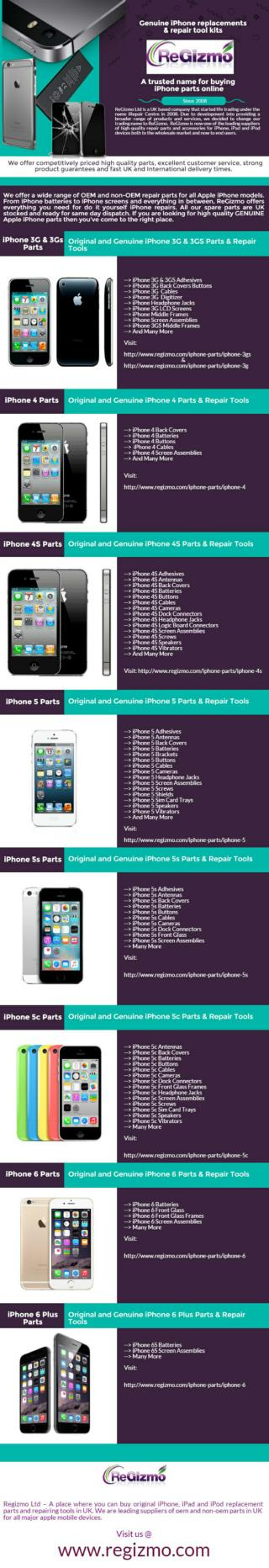 ReGizmo � Trusted name for buying iphone parts online in UK
