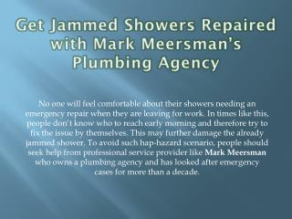 Replace Your Leaky Tubes from Mark Meersman's Plumbing Agency