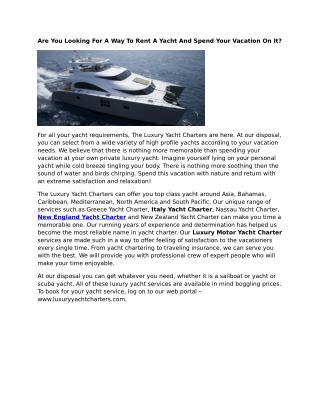 Newport Yacht Charter