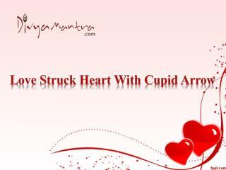 Love Struck Heart With Cupid Arrow