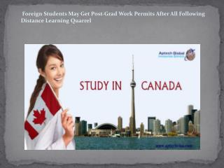 Foreign Students May Get Post-Grad Work Permits After All Following Distance Learning Quarrel