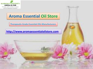 Therapeutic grade essential oils suppliers