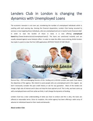 Get online Guaranteed Unemployed Loans
