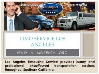 Limo services Los Angeles