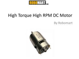 High Torque High RPM DC Motor - Robomart