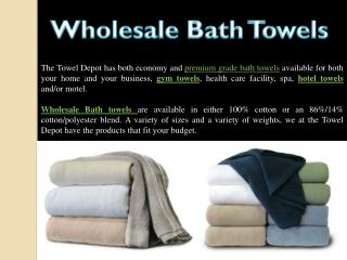 Buy USA Number One Wholesale Bath Towels