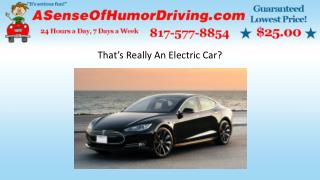 That's really an electric car
